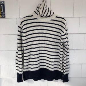 J. Crew Ribbed Relaxed Wool Turtleneck Sweater
